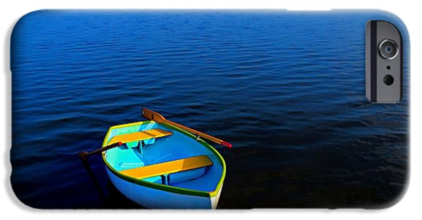 Glynn iPhone Cases - My Sweet Row Boat iPhone Case by Laura Ragland