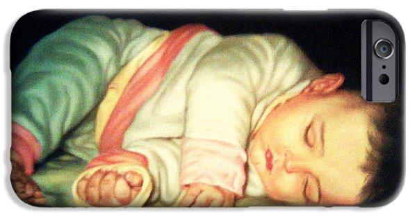 Innocence Pastels iPhone Cases - Sweet Sleep iPhone Case by Mojgan Jafari