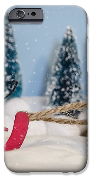 Sweet Sleigh Ride iPhone Case by Heather Applegate