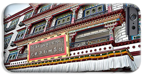 Tibetan Buddhism iPhone Cases - Sweet Tea Shop in Lhasa-Tibet    iPhone Case by Ruth Hager