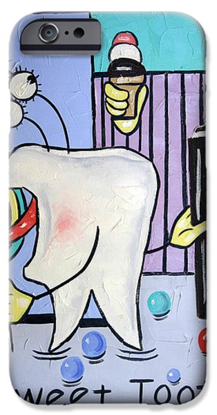 Framed iPhone Cases - Sweet Tooth iPhone Case by Anthony Falbo