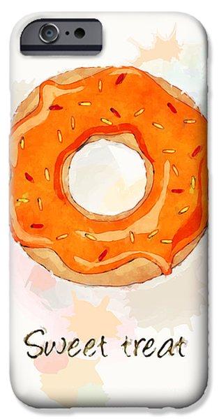 Menu iPhone Cases - Sweet treat orange iPhone Case by Jane Rix