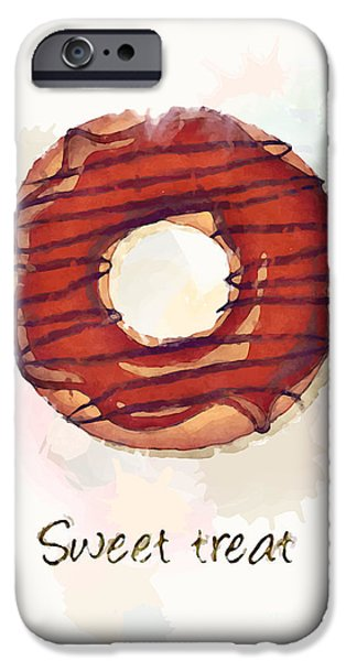 Menu iPhone Cases - Sweet treat.jpg iPhone Case by Jane Rix