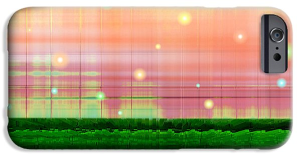 Dreamscape Digital Art iPhone Cases - Sweet Tuesday Morning iPhone Case by Wendy J St Christopher