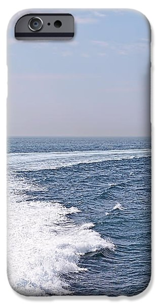 Abstract Seascape iPhone Cases - Swell Day On The Ocean iPhone Case by Gill Billington
