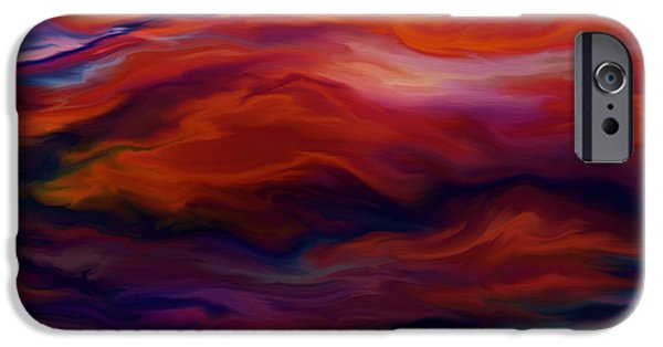 Turbulent Skies Digital Art iPhone Cases - Swept By Volcanic Sky iPhone Case by Kyle Wood