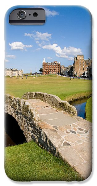 Pastimes iPhone Cases - Swilcan Bridge On The 18th Hole At St Andrews Old Golf Course Scotland iPhone Case by Unknown