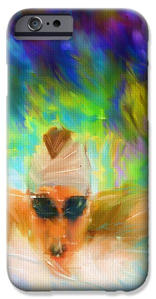 Swimming Fast iPhone Case by Lourry Legarde