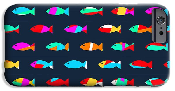 Patterned iPhone Cases - Swimming with The Fishes iPhone Case by Budi Kwan