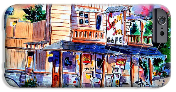 Old Town Temecula iPhone Cases - Swing Inn iPhone Case by John Dunn