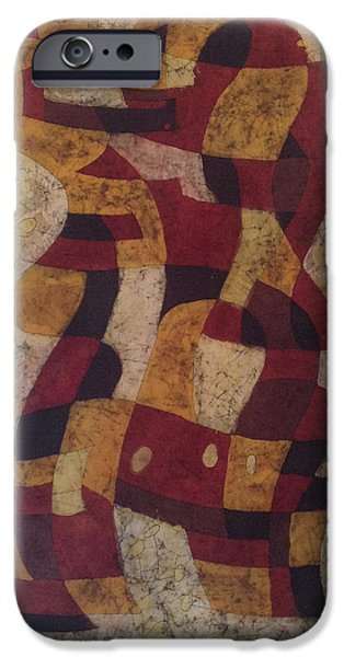 Abstracted Tapestries - Textiles iPhone Cases - Swing iPhone Case by Kevin Houchin