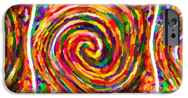 Concept Paintings iPhone Cases - Swirl 100 iPhone Case by Lanjee Chee