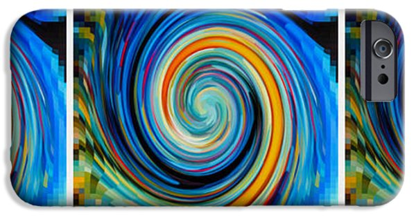 Concept Paintings iPhone Cases - Swirl 94 iPhone Case by Lanjee Chee