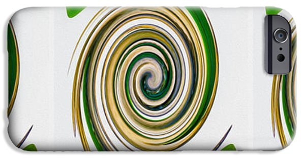 Concept Paintings iPhone Cases - Swirl 96 iPhone Case by Lanjee Chee