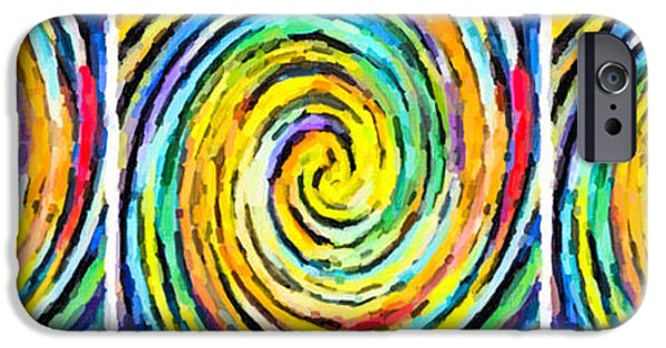 Concept Paintings iPhone Cases - Swirl 97 iPhone Case by Lanjee Chee