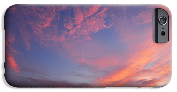 Jordan iPhone Cases - Swirl of Clouds at Dawn iPhone Case by Larry Ricker