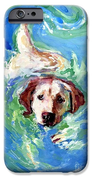 Water Retrieve iPhone Cases - Swirl Pool iPhone Case by Molly Poole