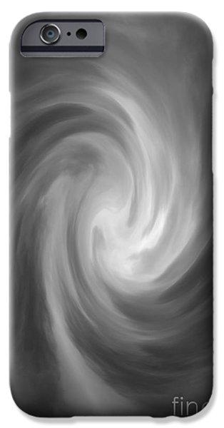 Dave Digital Art iPhone Cases - Swirl Wave IV iPhone Case by David Gordon