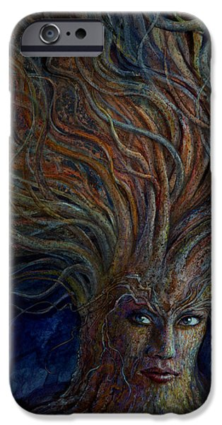 Imaginative iPhone Cases - Swirling Beauty iPhone Case by Frank Robert Dixon