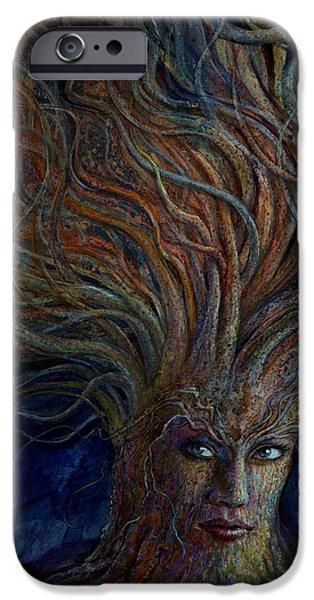 Swirling Beauty iPhone Case by Frank Robert Dixon