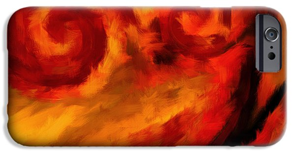 Trees At Sunset iPhone Cases - Swirling Hues iPhone Case by Lourry Legarde