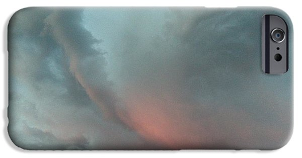 Dawn Of The Dead iPhone Cases - Swirling Storm Clouds iPhone Case by Mark Eisenbeil