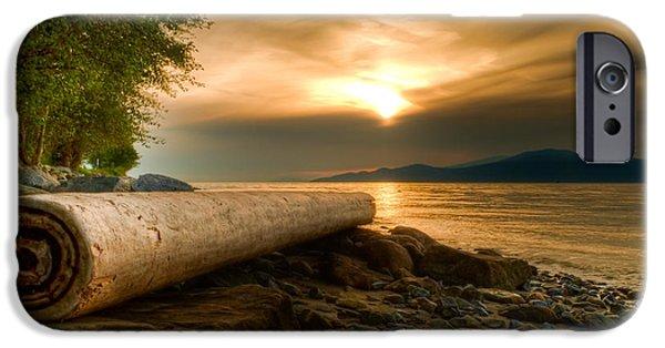 Bc Coast iPhone Cases - Swirly Log iPhone Case by James Wheeler