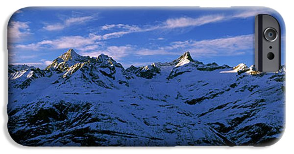 Mountain iPhone Cases - Swiss Alps From Gornergrat, Switzerland iPhone Case by Panoramic Images
