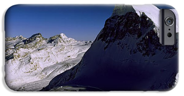 Mountain iPhone Cases - Swiss Alps From Klein Matterhorn iPhone Case by Panoramic Images