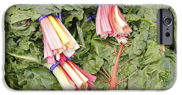 Swiss Chard iPhone Cases - Swiss Chard Rainbow Bundles iPhone Case by Lee Serenethos