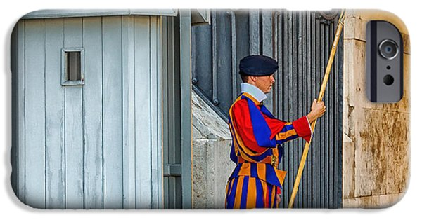 Weapon iPhone Cases - Swiss Guard at Vatican City iPhone Case by Mountain Dreams