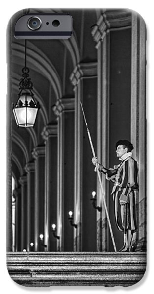 Swiss Photographs iPhone Cases - Swiss Guard iPhone Case by Erik Brede
