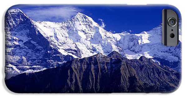 Swiss Photographs iPhone Cases - Swiss Mountains, Berner, Oberland iPhone Case by Panoramic Images