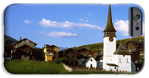 Brig iPhone Cases - Swiss Village In Rhone Valley iPhone Case by Panoramic Images