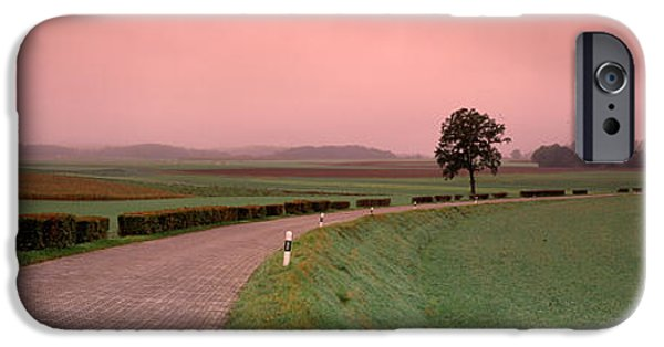 Pathway iPhone Cases - Switzerland, Country Road iPhone Case by Panoramic Images