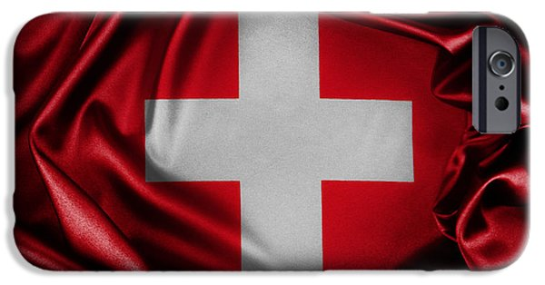 Flag iPhone Cases - Switzerland flag iPhone Case by Les Cunliffe