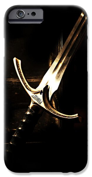 Sword of Gandalf iPhone Case by Christopher Gaston