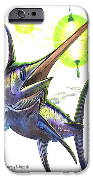 Lemon Drops iPhone Cases - Swordfishing iPhone Case by Carey Chen