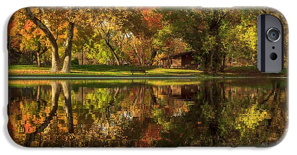 Chico iPhone Cases - Sycamore Reflections iPhone Case by James Eddy