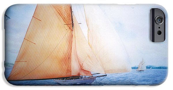 Seacapes iPhone Cases - Syce iPhone Case by Marguerite Chadwick-Juner