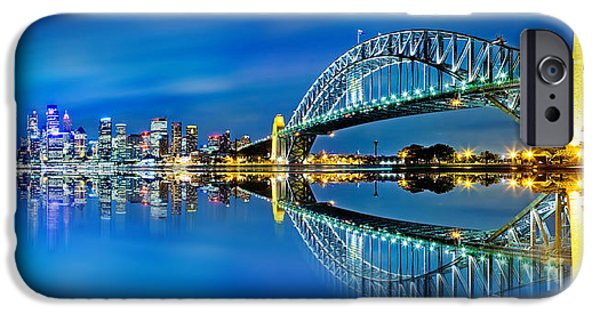 Business iPhone Cases - Sydney City Reflections iPhone Case by Az Jackson