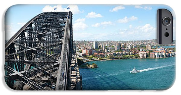 Connection iPhone Cases - Sydney From Top Of Observation Pylon iPhone Case by Panoramic Images
