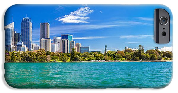 Business iPhone Cases - Sydney Harbour Skyline 3 iPhone Case by Az Jackson