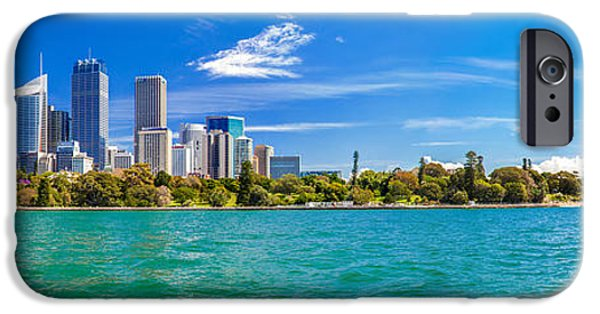 House iPhone Cases - Sydney Harbour Skyline 3 iPhone Case by Az Jackson