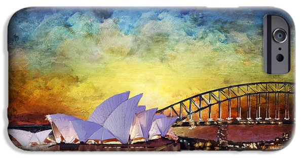 Exhibition iPhone Cases - Sydney Opera House iPhone Case by Catf
