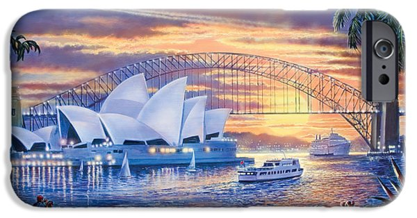 Recently Sold -  - Buildings iPhone Cases - Sydney Opera House iPhone Case by Steve Crisp