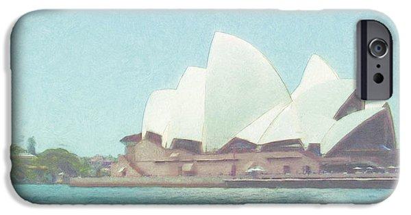 House Art Photographs iPhone Cases - Sydney Opera House iPhone Case by Tom Gowanlock