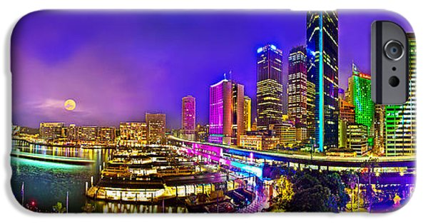 Big Cities iPhone Cases - Sydney Vivid Festival iPhone Case by Az Jackson