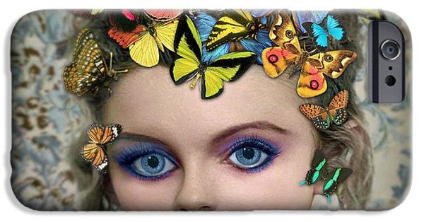 Pop Surrealism Digital iPhone Cases - Sylph iPhone Case by Tammy Wetzel