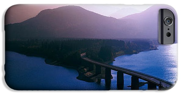 Road Travel iPhone Cases - Sylvenstein Lake Bavaria Germany iPhone Case by Panoramic Images